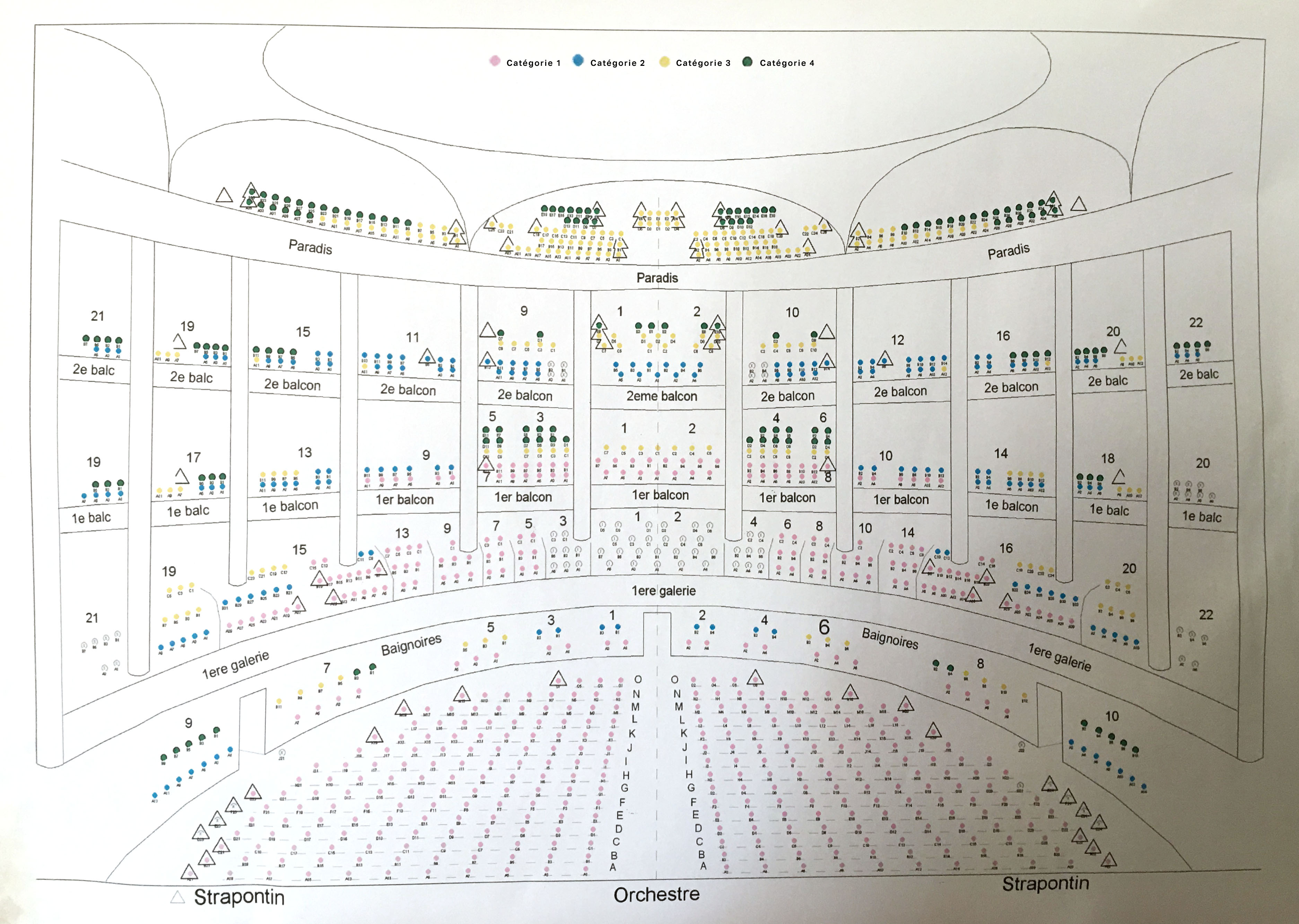 Plans De Salle Opera National De Bordeaux