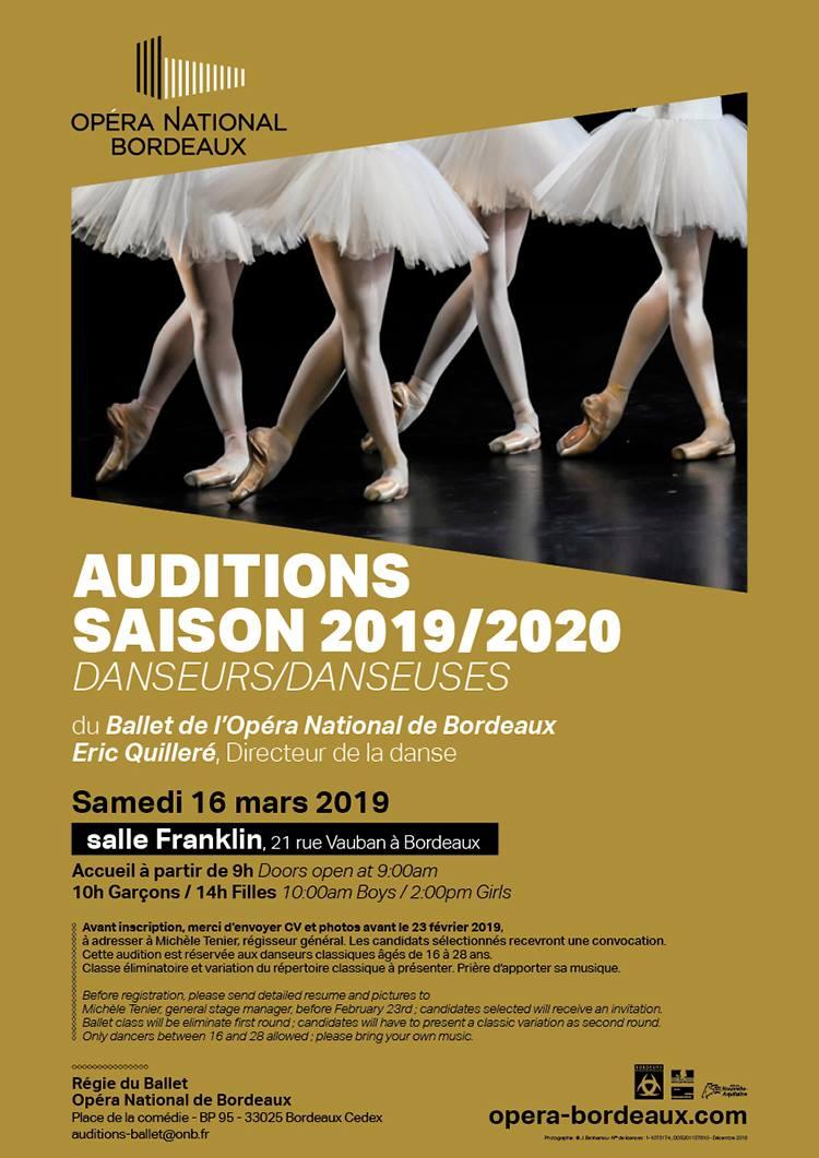 Concours et auditions | Opéra National de Bordeaux